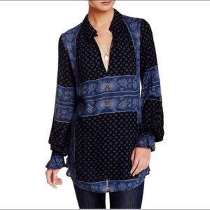Free people changing times tunic size s navy